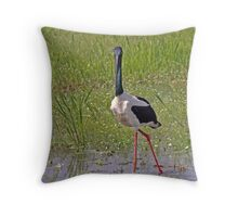 Black-necked Stalk Throw Pillow