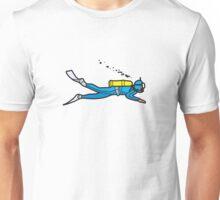 Blue diver Unisex T-Shirt