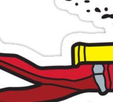 Red diver Sticker
