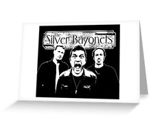 The Silver Bayonets (Black and White) Shout / Logo Greeting Card