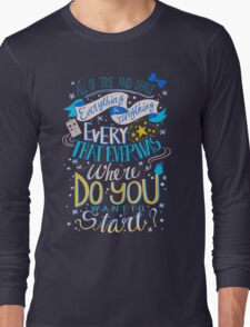 Doctor Who Typography Quote  Long Sleeve T-Shirt