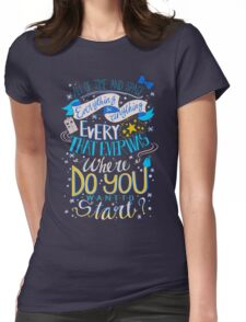 Doctor Who Typography Quote  Womens Fitted T-Shirt