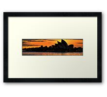 Shadow Aria - Sydney Opera House - Moods Of A City - The HDR Experience Framed Print