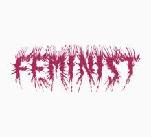 Feminist [pink death metal logo] by hamsters