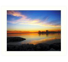 sunrise III ( while I was waiting for the sun to rise)... Art Print
