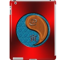 Cancer & Tiger Yang Wood iPad Case/Skin