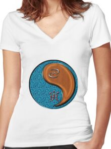 Cancer & Tiger Yang Wood Women's Fitted V-Neck T-Shirt
