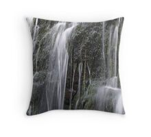 Water Curtains Throw Pillow