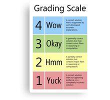 Grading Scale Canvas Print