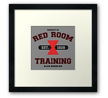 Red Room Training- Black Framed Print