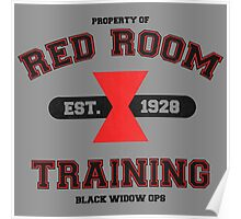 Red Room Training- Black Poster