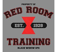 Red Room Training- Black Photographic Print