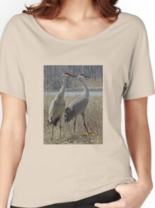 Cherokee Marsh Sandhill Cranes  Women's Relaxed Fit T-Shirt