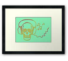 Rockskull green Framed Print