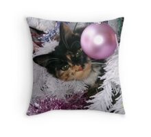 Feline Bauble Throw Pillow