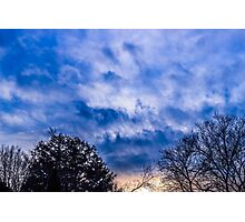 Clouds and Rays Photographic Print