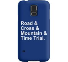 Bicycling Styles - Road, Cross, Mountain, Time Trial Samsung Galaxy Case/Skin