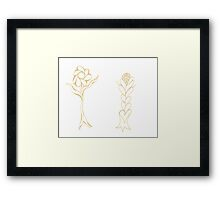 Flouncing Flora Framed Print
