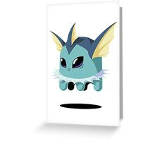 Vaporeon Ghost Greeting Card