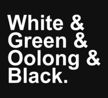 Tea Types - White, Green, Oolong, Black by GoFalcon