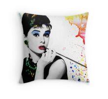 Audrey Hepburn with a twist Throw Pillow
