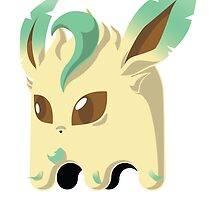Leafeon Ghost by Andres Flores