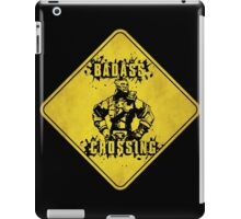 Wilhelm Badass Crossing (Worn Sign) iPad Case/Skin