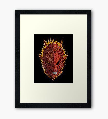Fire and Death Framed Print