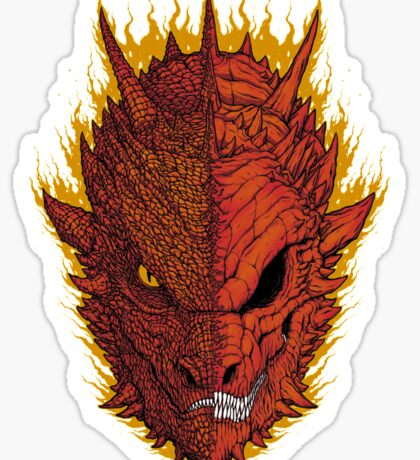 Fire and Death Sticker