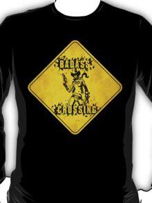 Nisha Badass Crossing (Worn Sign) T-Shirt