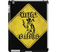 Nisha Badass Crossing (Worn Sign) iPad Case/Skin