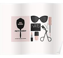 Beauty Blogger Flatlay Poster