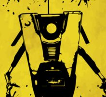 Claptrap Badass Crossing (Worn Sign) Sticker