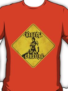 Athena Badass Crossing (Worn Sign) T-Shirt
