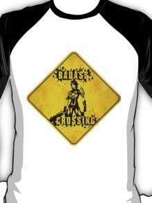 Athena Badass Crossing (Worn Sign) T-Shirt