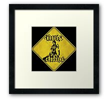 Athena Badass Crossing (Worn Sign) Framed Print