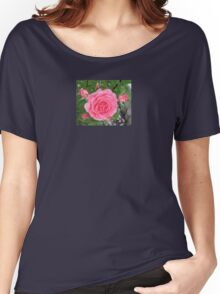 Pink Rose Carnation Flower Women's Relaxed Fit T-Shirt