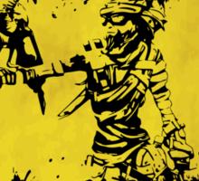Mordecai Badass Crossing (Worn Sign) Sticker