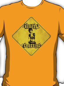 Lilith Badass Crossing (Worn Sign) T-Shirt