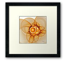 'Light Flame Abstract 086' Framed Print