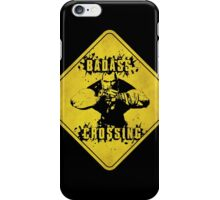 Brick Badass Crossing (Worn Sign) iPhone Case/Skin