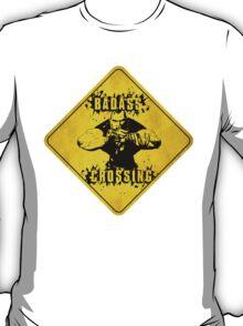 Brick Badass Crossing (Worn Sign) T-Shirt