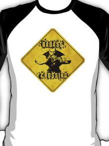 Brick Badass Crossing (Worn Sign) T-Shirt