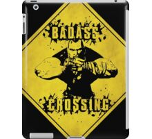 Brick Badass Crossing (Worn Sign) iPad Case/Skin