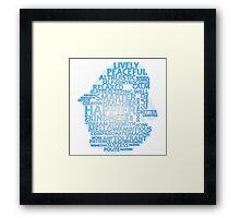 Inspirational Typography Penguin Framed Print