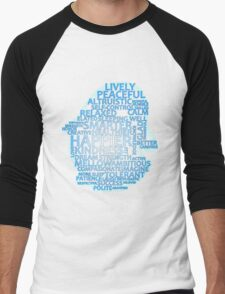 Inspirational Typography Penguin Men's Baseball ¾ T-Shirt