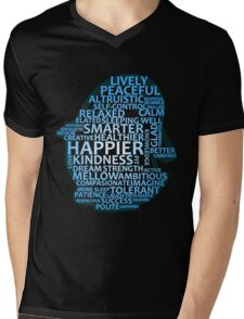 Inspirational Typography Penguin Mens V-Neck T-Shirt