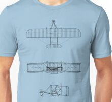 Blueprint Bi-Plane Unisex T-Shirt
