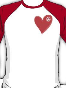 VW Large love heart/VW logo t-shirt - T-Shirt