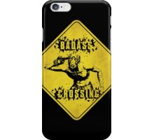 Badass Crossing (Worn Sign) iPhone Case/Skin
